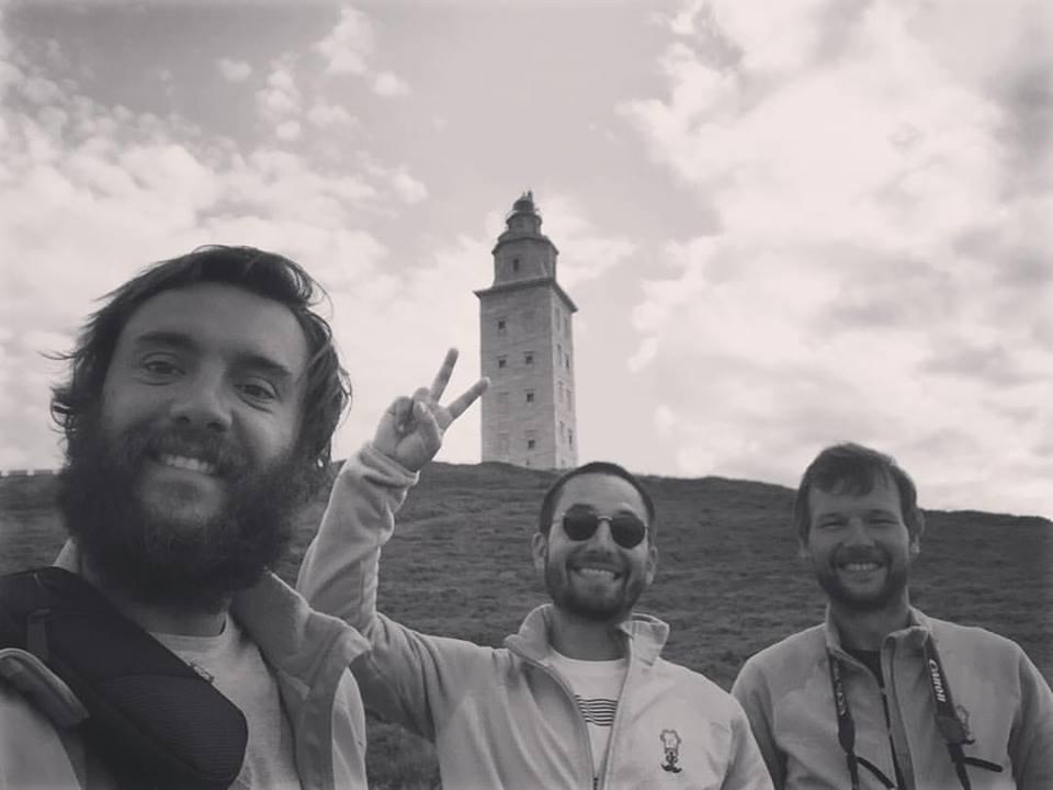 Tres pulpos en La Coruña